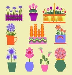 Flower shop Garden plants vector image