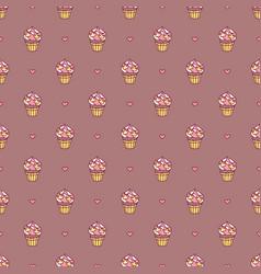 girlish seamless pattern vector image