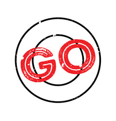 Go rubber stamp vector
