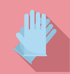 Hair dye gloves icon flat style vector