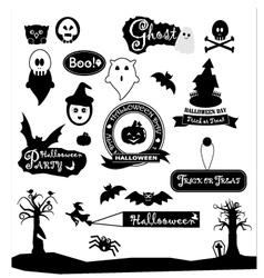 happy halloween silhouette colections design vector image