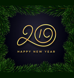 happy new year 2019 background banner vector image