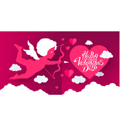 happy valentine s day cute design template vector image