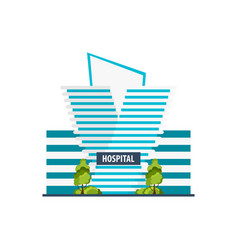 hospital modern building in flat style isolated on vector image