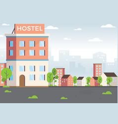 hostel vector image