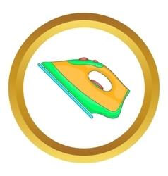 Iron electric tool icon vector