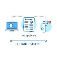 Job applicant concept icon vector