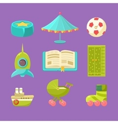 Kids Room Objects Set vector