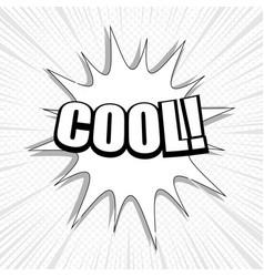 monochrome comic explosive template vector image