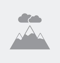 Natural panorama icon flat clean minimal and vector