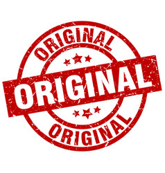 original round red grunge stamp vector image