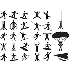Pictograph people doing extreme sports vector