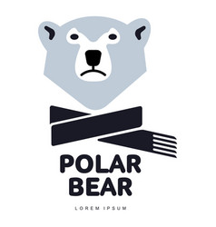 Polar bear logo vector