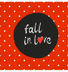 Polka dot red fall in love vector