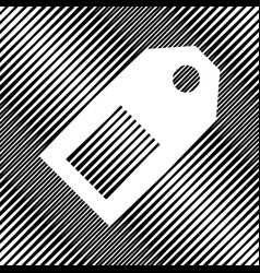 Price tag sign icon hole in moire vector
