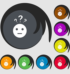 Question mark and man incomprehension icon Symbols vector