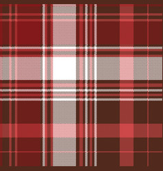 red check plaid textile seamless pattern vector image