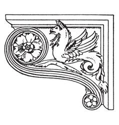 Renaissance console legs vintage engraving vector