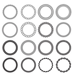 round rope shapes circle nautical frame vector image