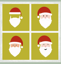 santa clause icon set vector image