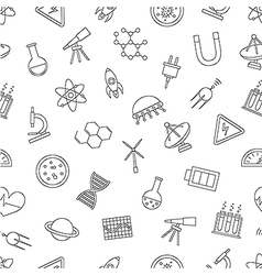 Science pattern black icons vector image