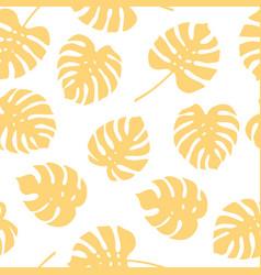 seamless pattern of monstera leaves tropical leav vector image