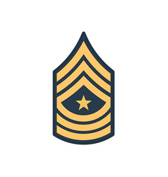 Sergeant major sgm soldier military rank insignia vector