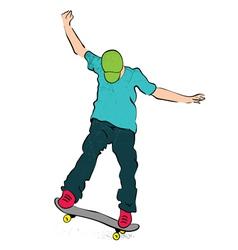 Skater balance vector