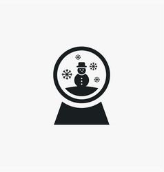 Snowglobe icon simple winter sign vector