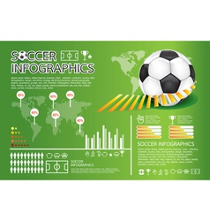 Soccer info graphic vector