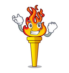Successful torch character cartoon style vector