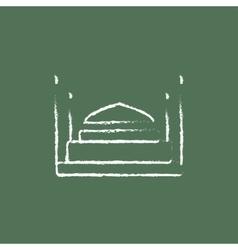 Taj Mahal icon drawn in chalk vector image