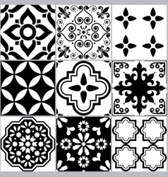 tile seamless azlejos pattern portuguease vector image
