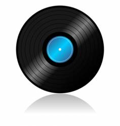 Vinyl record with reflex vector
