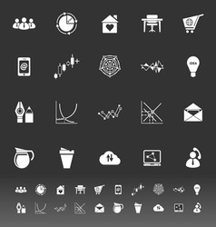 Virtual organization icons on gray background vector image