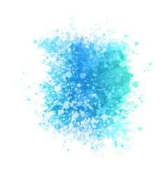 Watercolour texture in blue and teal vector