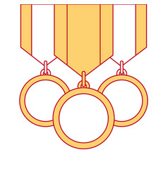 winner medals isolated icon vector image