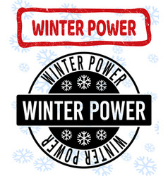 Winter power scratched and clean stamp seals vector