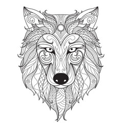 Wolf simple vector