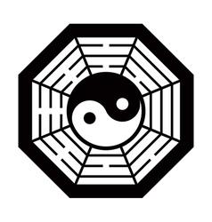 Yin Yang symbol black and white vector image