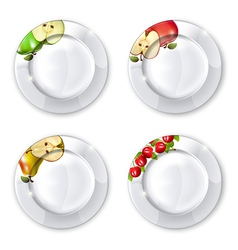 Collection of plates vector image vector image