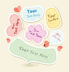 Different textured frame for text vector image vector image