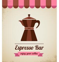 Espresso bar vinatge poster with makineta vector image vector image