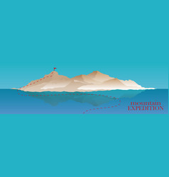 mountaineering and traveling vector image