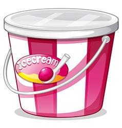 An ice cream bucket vector image vector image
