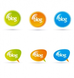 blog elements vector image vector image