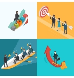 Business Growth Teamwork Target concept vector image