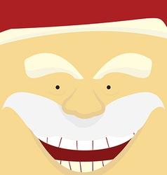 face santa Claus vector image