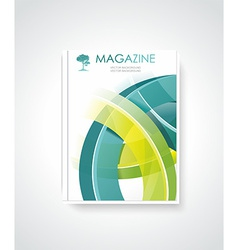 Magazine or brochure template design vector image