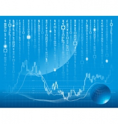 stock exchange background vector image